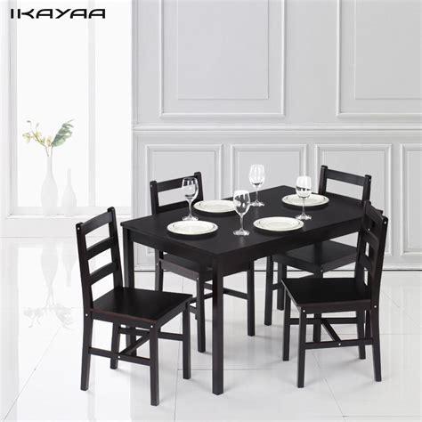 ikayaa modern pcs pine wood dining table set kitchen