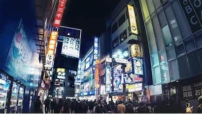Nightlife Loop Japan Cinemagraph Tokyo Giphy Shinjuku