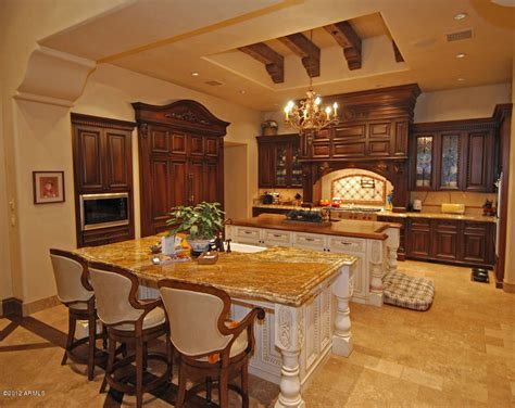 kitchen island table most expensive luxury home in arizona usa sold in 2020