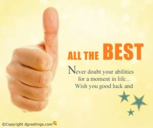 all the best for your future quotes