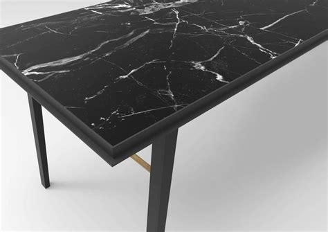 aes black marble contemporary desk jan garncarek  sale