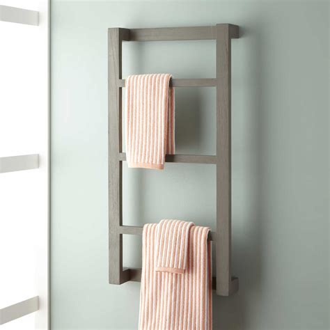 bathroom towel racks wulan teak hanging towel rack bathroom