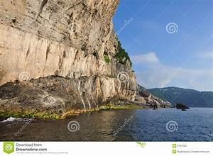 Steep Ocean Cliffs Stock Photo