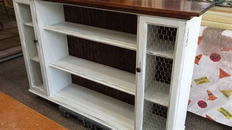 Hometalk   Hutch Top Repurposed Into Dining Room Storage