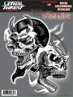 Lethal Threat Evil N Good Decal  154169  J&p Cycles