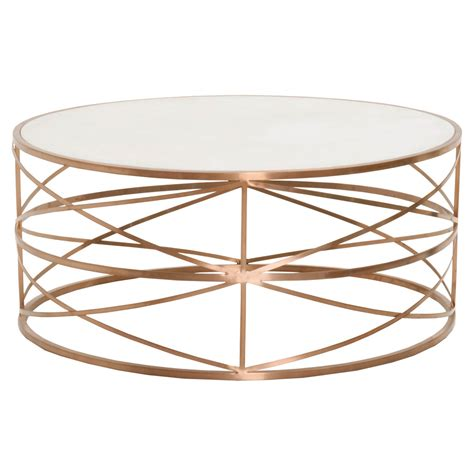 rose gold table l melrose round coffee table