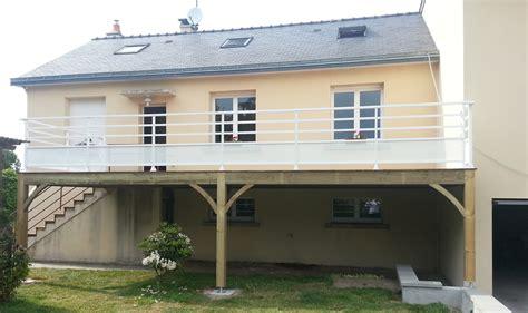 maison avec escalier exterieur 6 terrasse hors sol en