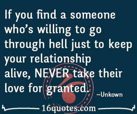 Taken For Granted Love Quotes