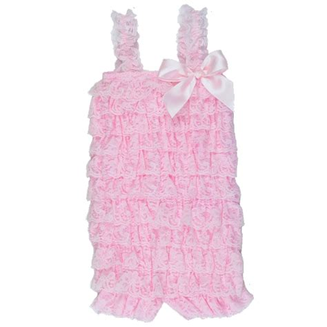 light pink romper light pink lace petti lace leg warmers for infants