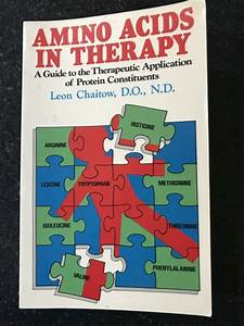 Amino Acids In Therapy  A Guide To The Therapeutic