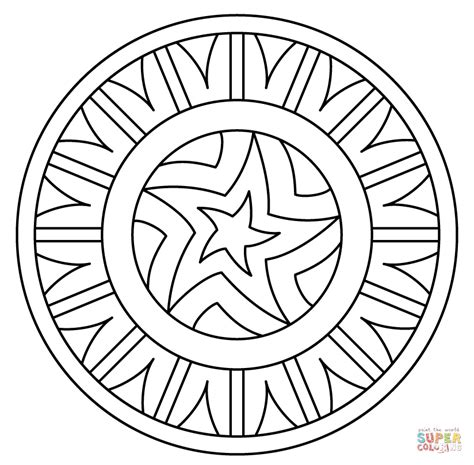 pattern coloring pages mandala with pattern coloring page free printable