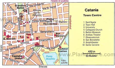 catania map  catania satellite image