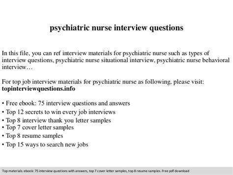 Questions For Psychiatric Nurses by Psychiatric Questions
