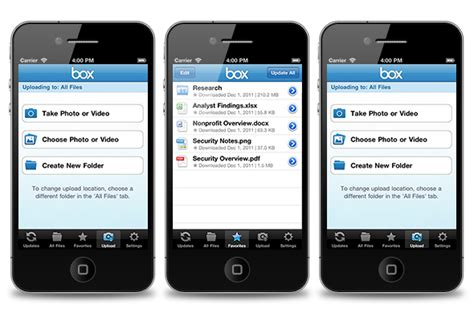 box app for iphone box ios app update business insider