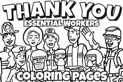 Coloring Workers Essential Colouring Water Education Printable