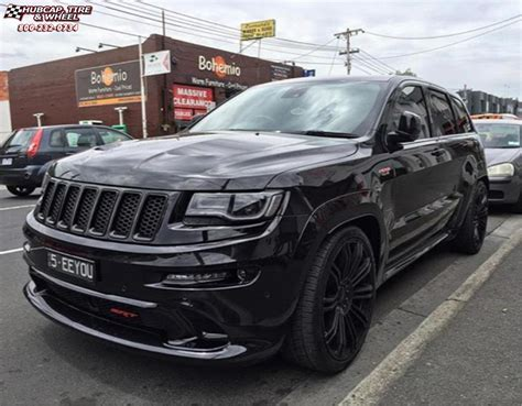 jeep cherokee black with black rims jeep grand cherokee kmc km677 d2 wheels gloss black
