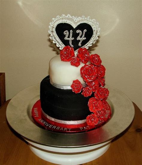 black and white anniversary cakes ideas with bright flowers jpg hi res 720p hd