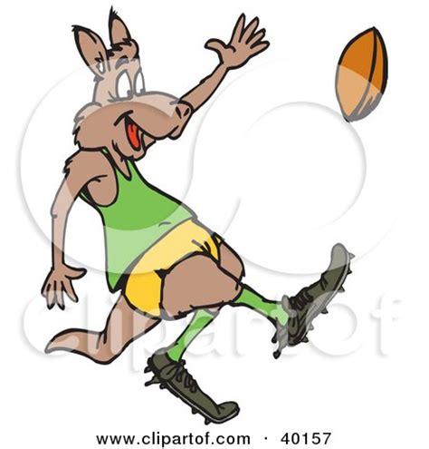 clipart illustration   kangaroo janitor playing