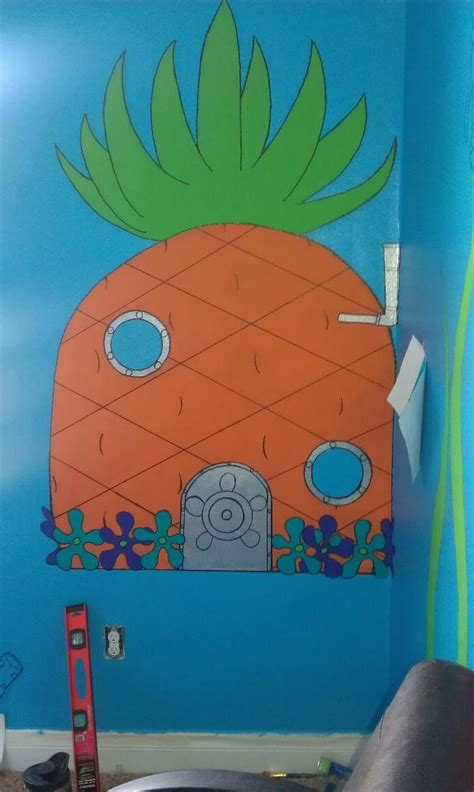 hand painted kids room spongebob kids kids room paint