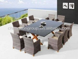 10 seater outdoor dining set wicker patio dining table set