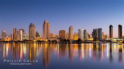 San Diego Downtown Skyline Waterfront Embarcadero