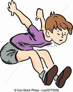 Vectors of Boy jumped - Boy in summer clothes jumping in ...