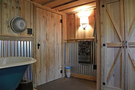 Metal Wainscoting Ideas by Corrugated Metal Wainscoting Bathroom Craftsman With Barn