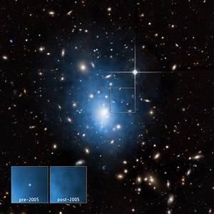 Dwarf Galaxy, Galaxy Cluster Abell 1795 | NASA