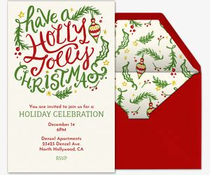 Holiday Party Invitations Evite com
