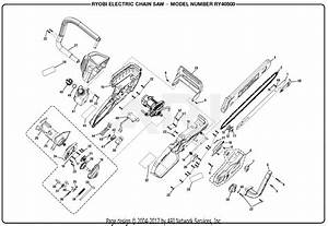 Homelite Ry40500 Electric Chain Saw Parts Diagram For