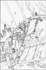 Brett Booth Coloring Sketches Darkhawk Superhero sketch template