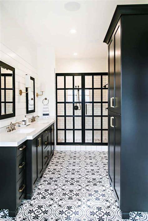 incredibly stylish black  white bathroom ideas