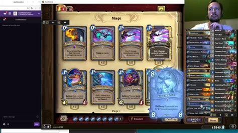 Mage Deck Hearthstone Frozen Throne by Hearthstone Frozen Throne Day 3 Elemental Mage