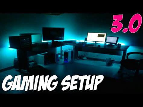 led bureau gaming set up 3 0 led ps4 bureau