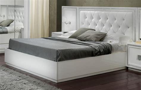 chambre 160x200 lit krystel laque blanc