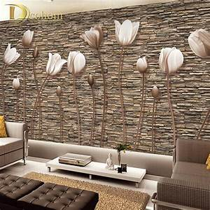 Large 3D Wall Murals Photo Wallpaper Flower for Living ...