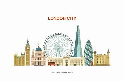 London Skyline Clip Vector Eye Attractions Background