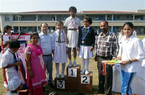 Winners being felicitated by the dignitaries at SOS ...