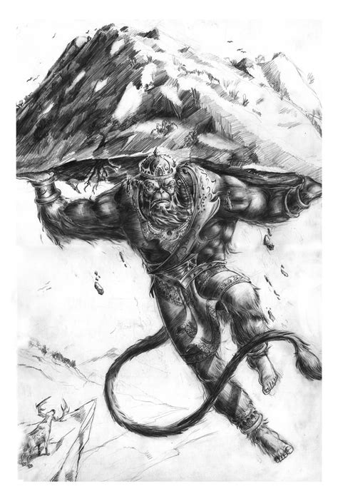 Download Free Pics Photos Pin Tattoos Hanuman Monkey Tattoo Sketch Lord Picture To to use and