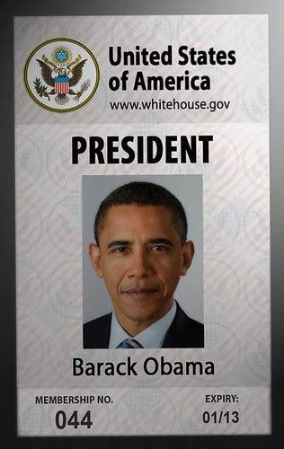 president id card barack obama flickr photo sharing