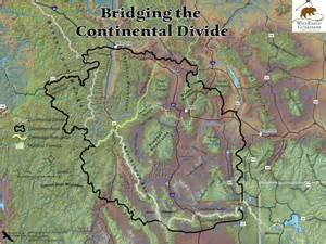 Continental Divide Map Wyoming