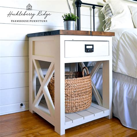 farmhouse nightstand ana white