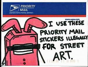 going postal mail stickers as street art the picture With free postage stickers