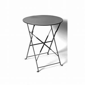 Table Pliante Noire : table ronde camargue pliante 60 cm noire hesp ride ~ Teatrodelosmanantiales.com Idées de Décoration