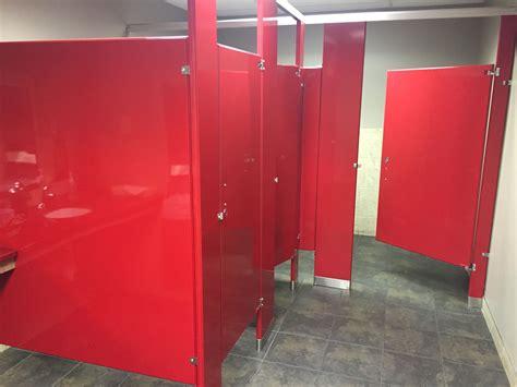 red bathroom stalls current bathroom  tt minneapolis