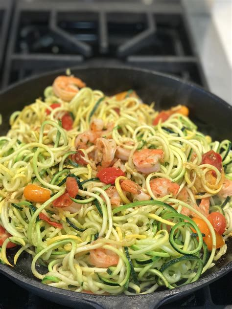 zucchini shrimp noodles diet rainbow baked reset adrenal tomatoes dr recipes alan christianson drchristianson