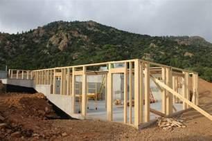 sloped lot house plans cañon city house framing update evstudio architect