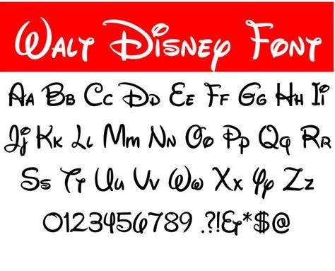 Walt Disney Font Svg Walt Disney Letters Alphabet Disney