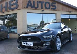 Ford Mustang v8 5.0 gt fastback sync 3 noir 10500kms 1ere main pack premium occasion essence ...