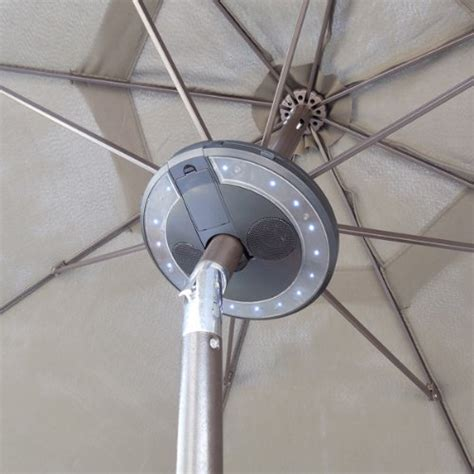patio umbrella bluetooth speaker with led lights